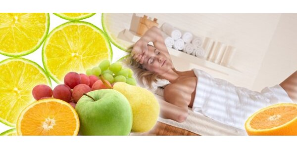 349 Kč za voňavý detoxikační zábal z ovoce, čokolády nebo bahna.