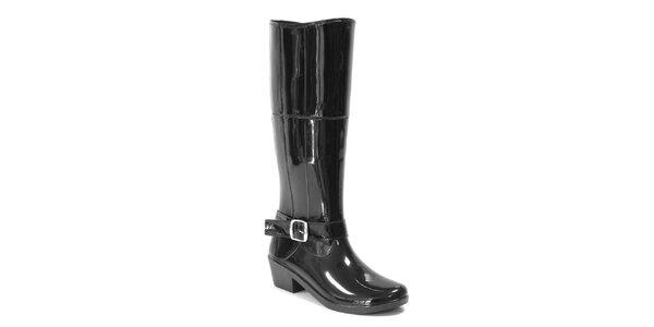 Dámské lesklé vysoké boty s páskem Favolla