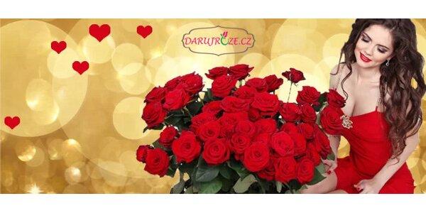Valentýnské růže - možnost dopravy zdarma