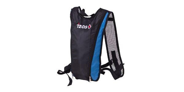 Černý hydro batoh s modrými prvky Izas