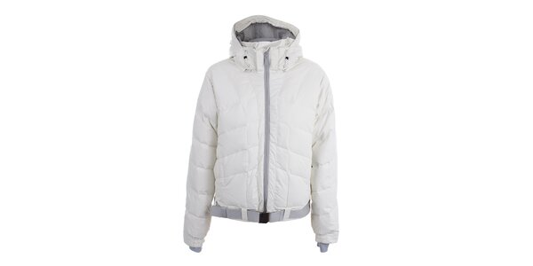 Dámská bílá lyžarská bunda s páskem Joluvi