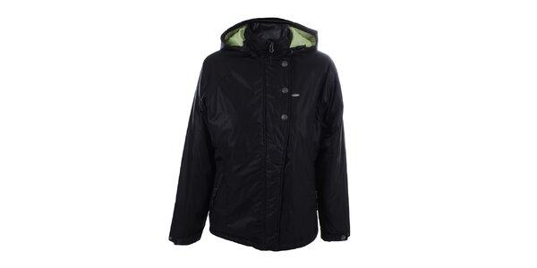 Dámská černá vzorovaná bunda s kapucí Joluvi