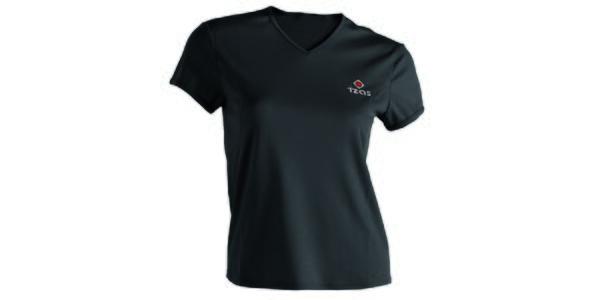 Dámské černé technické tričko s krátkým rukávem Izas