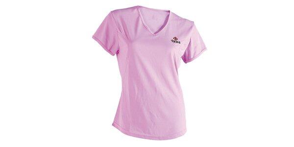 Dámské růžové technické tričko s krátkým rukávem Izas