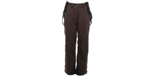 Dámské tmavě hnědé lyžařské kalhoty Trimm