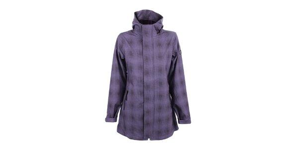 Dámský fialový kabát s kapucí Joluvi