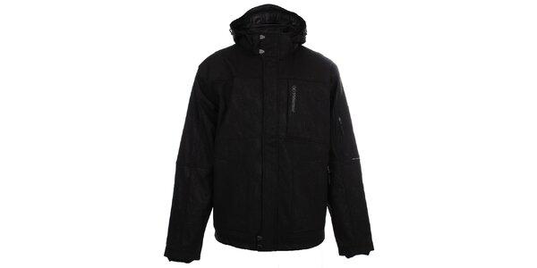 Pánská černá softshellová bunda se vzorem Trimm