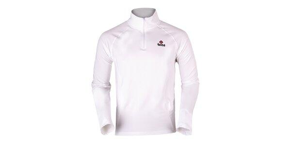 Pánské bílé termo tričko s dlouhým rukávem Izas