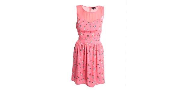 Dámské korálové šaty Yumi