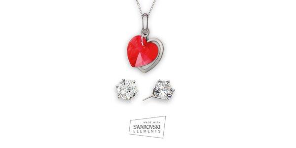 Dámská sada šperků Swarovski Elements - kamínkové náušnice a náhrdelník…