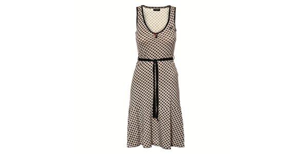 Dámské černobílé kostičkované šaty Vive Maria