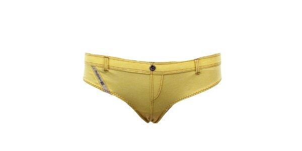Dámské žluté kalhotky Diesel