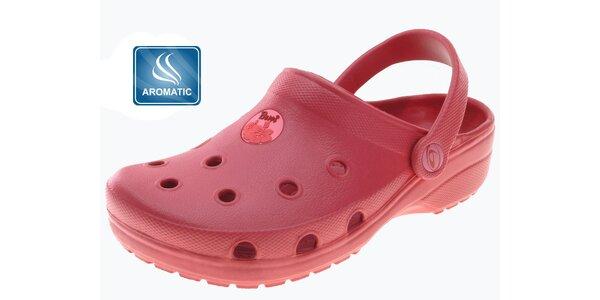 Dámské červené pantofle Beppi s vůní