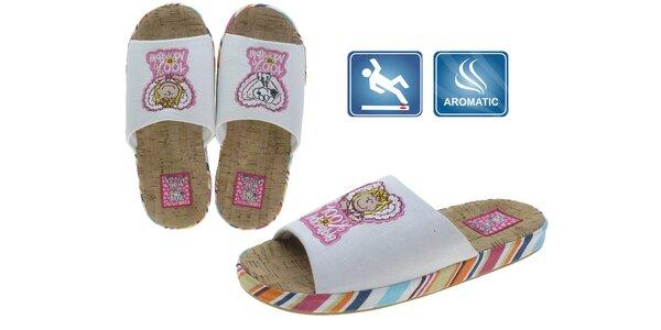 Dámské bílé pantofle Beppi s obrázky