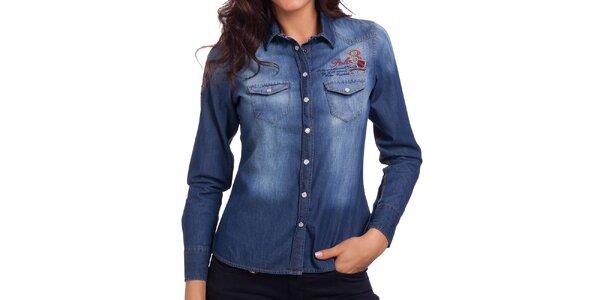 Dámská džínová košile se šisováním Galvanni