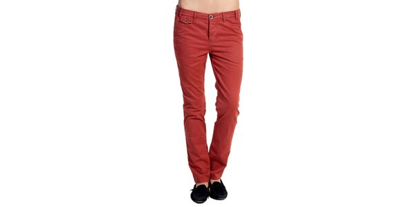 Dámské oranžovočervené kalhoty Galvanni