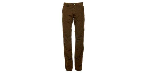 Pánské tmavě hnědé kalhoty Freesoul
