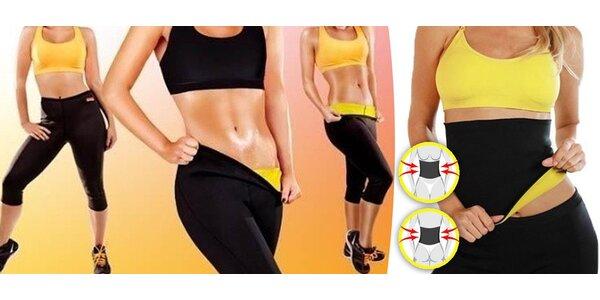 Fitness legíny a pás pro lepší spalování tuků