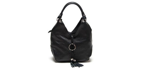 Dámská černá kabelka se střapcem Renata Corsi