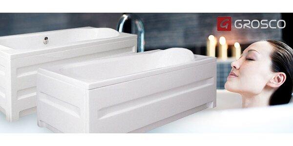Kvalitní celoakrylátové vany v 5 rozměrech