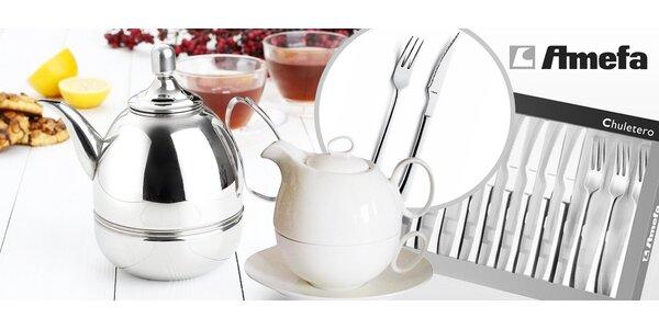 Elegantní nádobí - čajové konvice či příbory