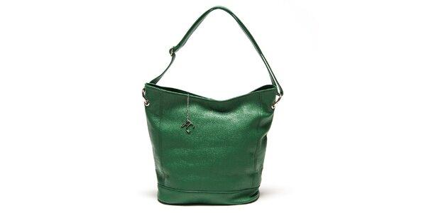 Dámská zelená kabelka s pevným dnem Renata Corsi