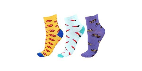 Dámský tříbarevný set ponožek Happy Socks - 3 páry