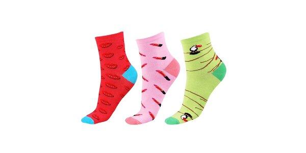 Dámský set ponožek s barevnými obrázky Happy Socks - 3 páry