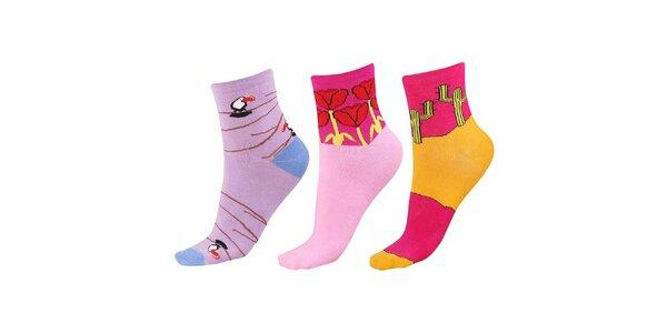 Dámský set ponožek s obrázky Happy Socks - 3 páry