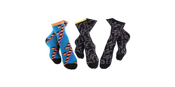 3 páry hravých pánských ponožek Happy Socks