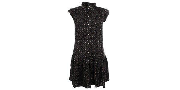 Dámské šaty s jemným vzorem a knoflíčky Iska