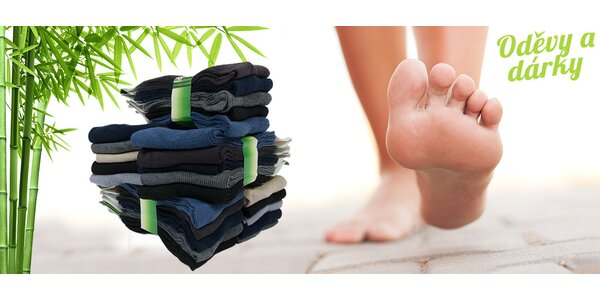 10 párů ponožek jen z bambusu a bavlny