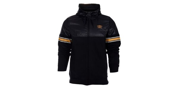 Pánská černá bunda Umbro s oranžovými detaily