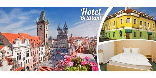 1 nebo 2 noci se snídaní v hotelu Brilliant v Praze