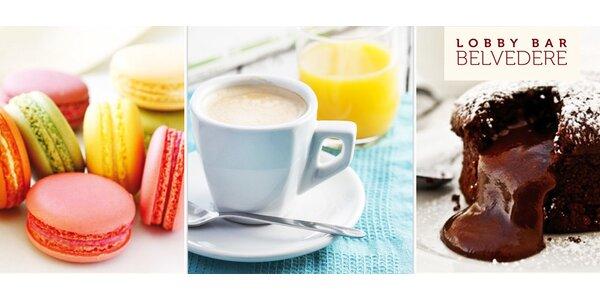 Sladké dobroty a nápoje pro dva v Caffé Belvedere