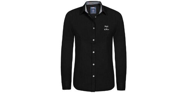Dámská černá košile s výšivkou Giorgio di Mare