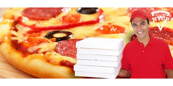 2x pravá americká pizza na rozvoz po Ostravě