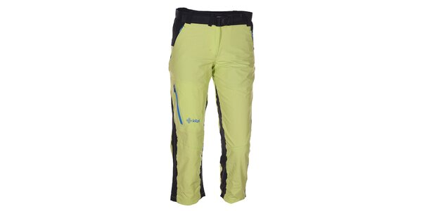 Dámské 3/4 zeleno-černé kalhoty Kilpi