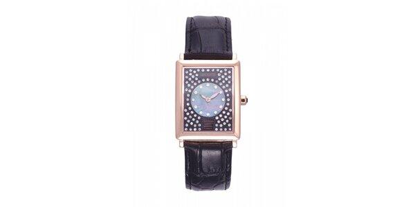 Dámské zlaté hodinky Lancaster s krystaly