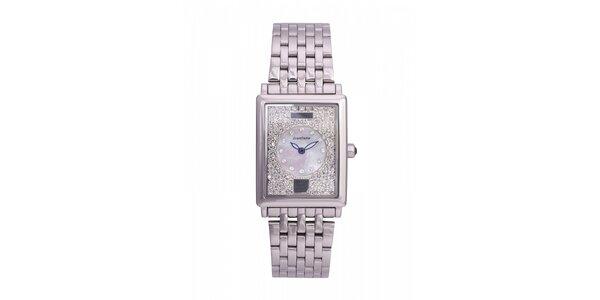 Dámské ocelové hodinky Lancaster s krystaly