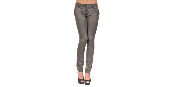 Dámské hnědé kalhoty Giorgio Di Mare