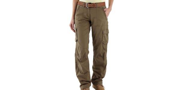 Dámské pískově hnědé kalhoty s kapsami Bushman