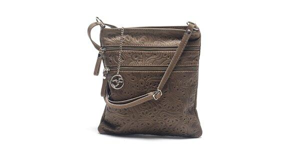 Dámská kožená taška se vzorem Carla Ferreri
