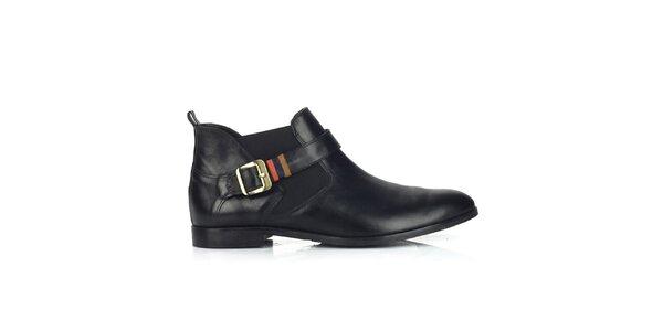 Dámské kožené černé chelsea boty Joana and Paola
