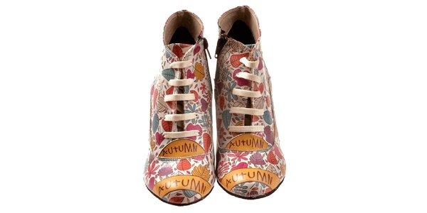 Dámské kotníčkové boty s barevnými lístky Elite Goby