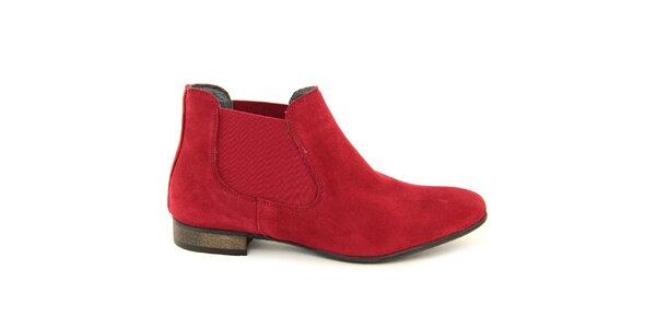 Dámské rudé chelsea boty Giorgio Picino