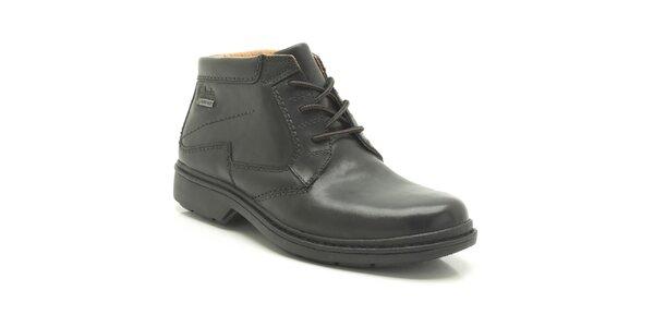 Pánské černé kotníkové boty Clarks