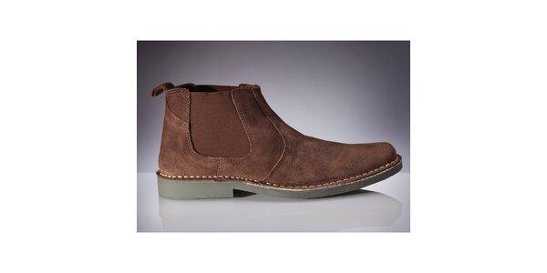 Pánské tmavě hnědé chelsea boty Roamers