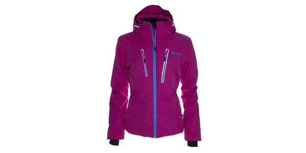 Dámská růžová snowboardová bunda s modrým zipem Kilpi
