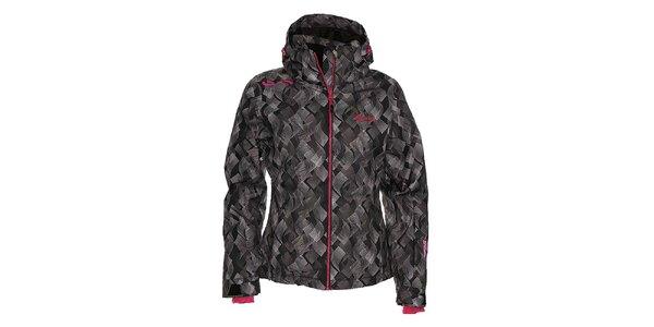 Dámská černá snowboardová bunda se vzorem Kilpi